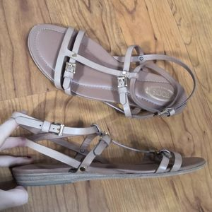 Tod's flat leather strappy sandals